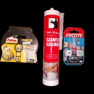 Vegyi termékek, technikai spray-k, ragasztószalagok