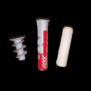 Műanyag és fa tiplik, dűbelek
